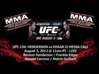 UFC 150: Henderson vs Edgar II Pre-Fight Call with Henderson / Edgar + Cerrone / Guillard (LIVE)
