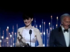 Anne Hathaway wins Best Actress in Supporting Role Oscar 2013