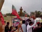 PTI Chairman IK entry to Nowshera Jalsa.