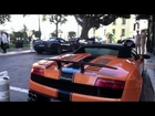 Supercars in Monaco VOL.12 (LP570-4 Performante, 2x SLS AMG, 599 HGTE) [HD]